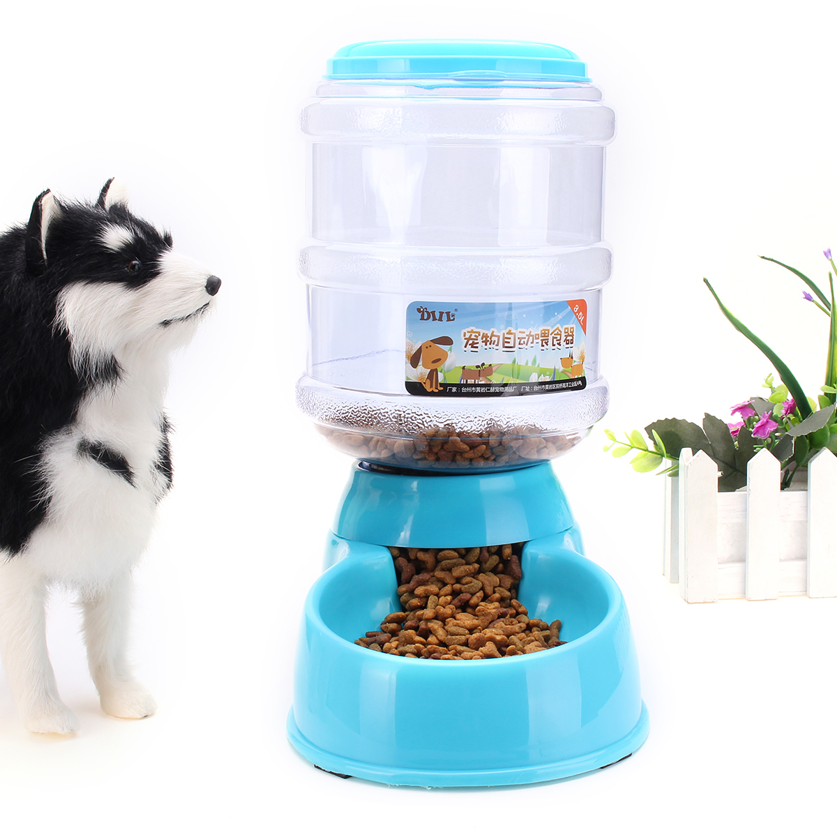 3.5L Large Automatic Pet Feeder Supplies Dog Cats Food Dispenser Feeding Bowl