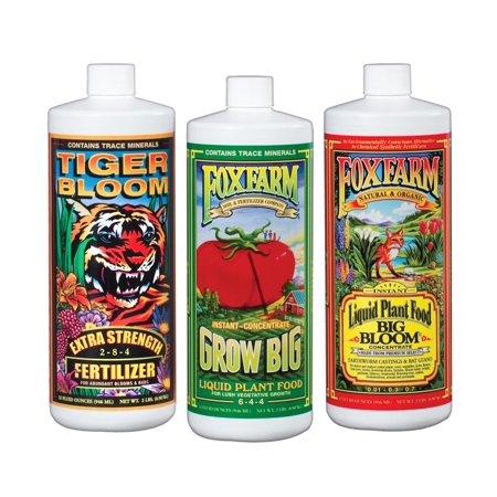 FOXFARM FX14049 Hydro Nutrient Trio Tiger Bloom Grow 3 Qts Liquid Plant (Liquid Bloom Quart)