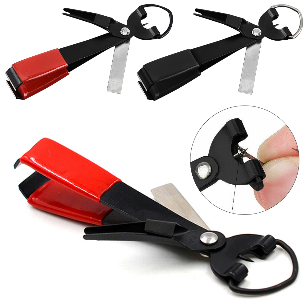 Quick Knot Tying Tool Fast Hook Nail Knotter Line Cutter Fly Fishing Clippers