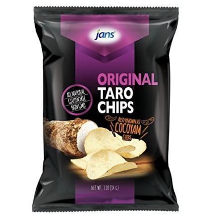 Jans All Natural Original Taro Chips 3oz (Pack of 2)