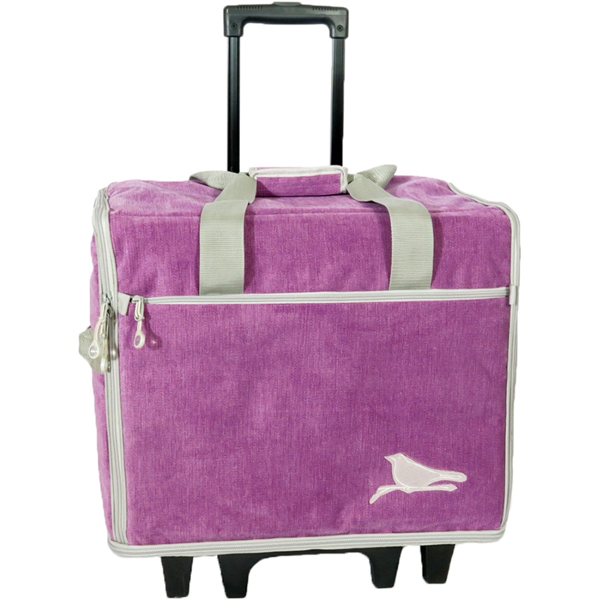 "19"" Wheeled Sewing Machine Bag Designer Series 19.25""X14""X9""-Songbird - Violet"