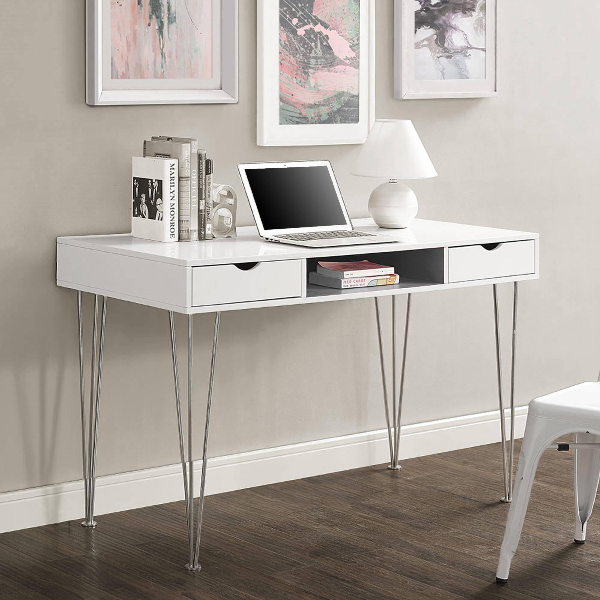 "Walker Edison 48"" Modern Wood Computer Desk, Multiple Colors"
