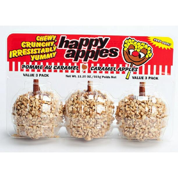 Caramel Apples W Sprinkles 3 Ct Walmart Com Walmart Com