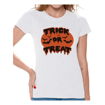 93235e13e Awkward Styles - Awkward Styles Women's Halloween Graphic T-shirt Tops Trick  or Treat Scary Bats - Walmart.com