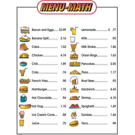 Remedia Publications REM111BBN Menu Math-matiques pour d-butants Liste de prix suppl-mentaires - 6 par paquet - Paquet de 3 - image 1 de 1