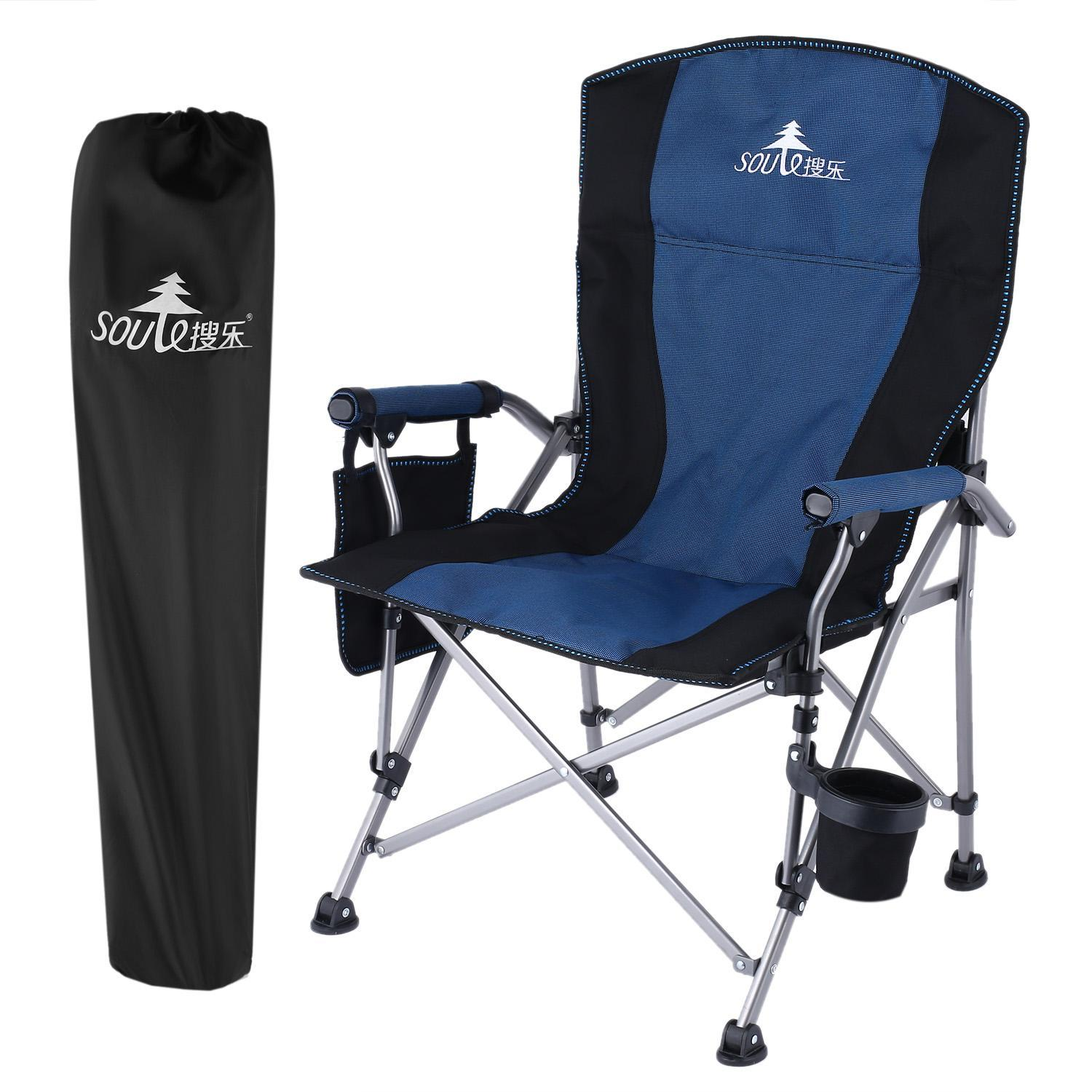 Amazing Outdoor Portable Oxford Beach Camping Hiking Fishing Folding Chair With Cup  Holder RYSTE   Walmart.com