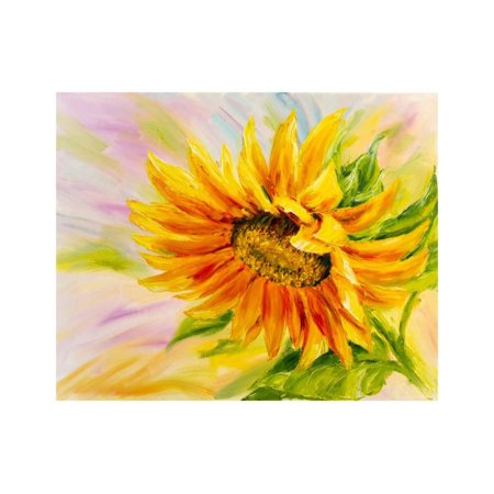 Sunflower, Oil Painting on Canvas Print Wall Art By Valenty ()