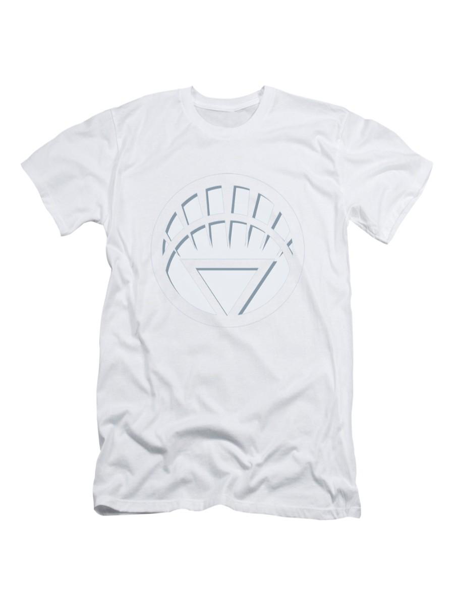 Green Lantern DC Comics White Lantern Logo Adult Slim T-Shirt Tee