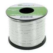 GearIt 18-Gauge Speaker Wire (100'/30.48m), White