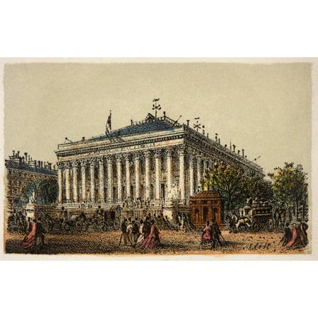 Gravure  Paris En 1874  La Bourse  Coll Canvas Art     36 X 24
