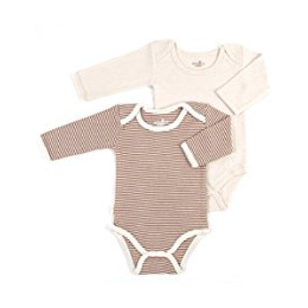 S/2 long slv lap shoulder onesie Layette 0-3 mths