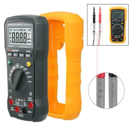 PEAKMETER Authorized Orange Digital Multimeter AC/DC Voltage Current Ohm Tester