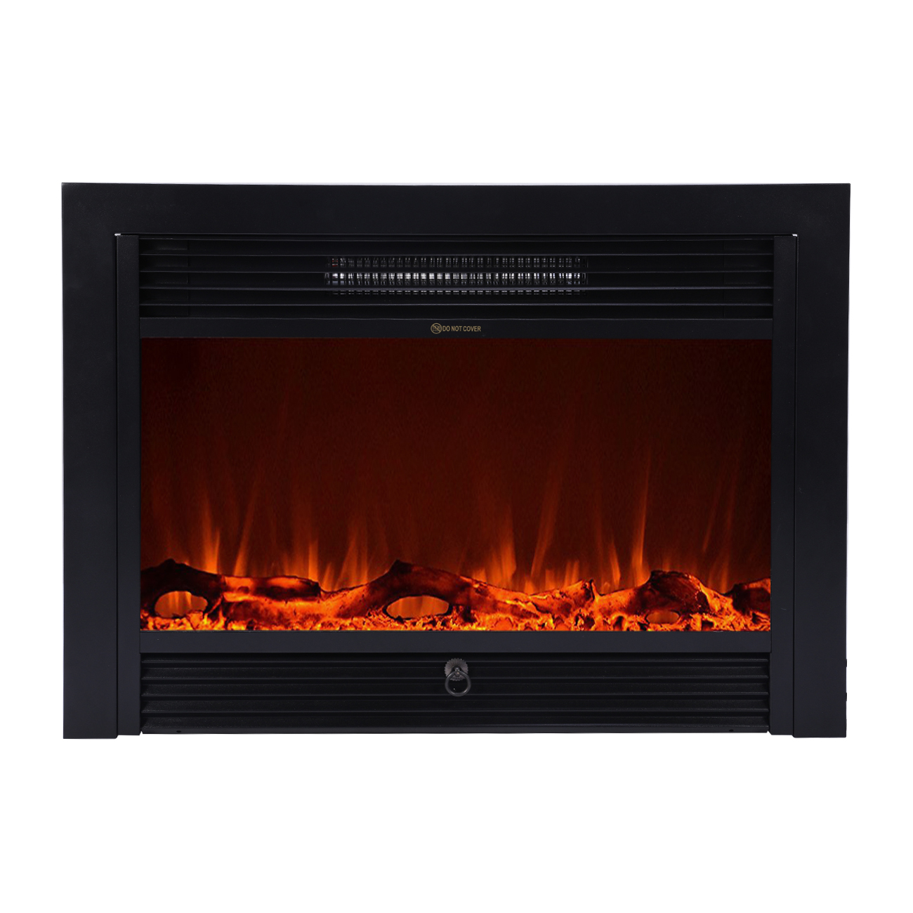 """Oslamp 28.5"""" inch Inserted Electric Wall Mount Fireplace Heater with Remote Control Embedded"""