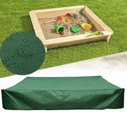 snorda Sandbox Cover With Drawstring Waterproof Dustproof Protection Green