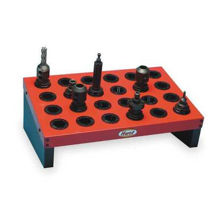 Huot CNC Tool Platform, 40 Taper, Heavy-Duty, Steel, Black Sides with Red Shelf, 14840