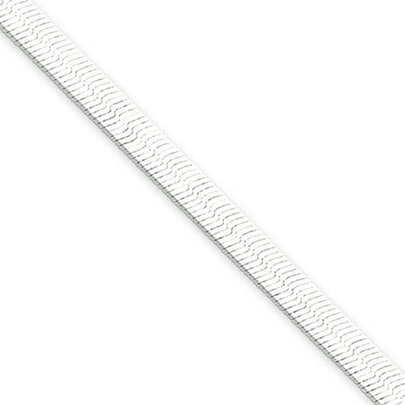 4.5mm, Sterling Silver Solid Herringbone Chain Bracelet, 8 Inch