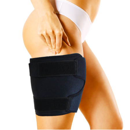 Pivit Adjustable Hamstring Compression Leg Sleeve Brace | Quad Wrap Thigh Support for Men & Women | Pulled Groin Muscle Sprains Quadricep Tendinitis Workouts Cellulite Slimmer & Sports Injury