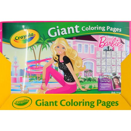 Crayola Giant Coloring Pages Barbie