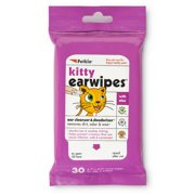 Petkin Kitty Ear Wipes, 30 Wipes