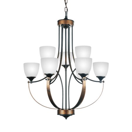 cwi lighting solis 9 light shaded chandelier walmart com
