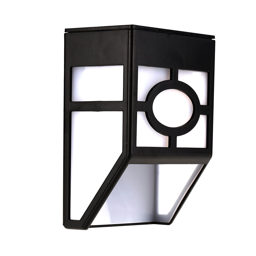 GLOGLOW Solar Wall Light, Sensor Wall Light,Solar Powered Wall Mount 2 LED Light Outdoor Garden