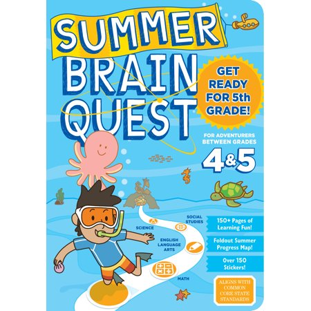 5 Paperback Books - Summer Brain Quest: Between Grades 4 & 5 - Paperback