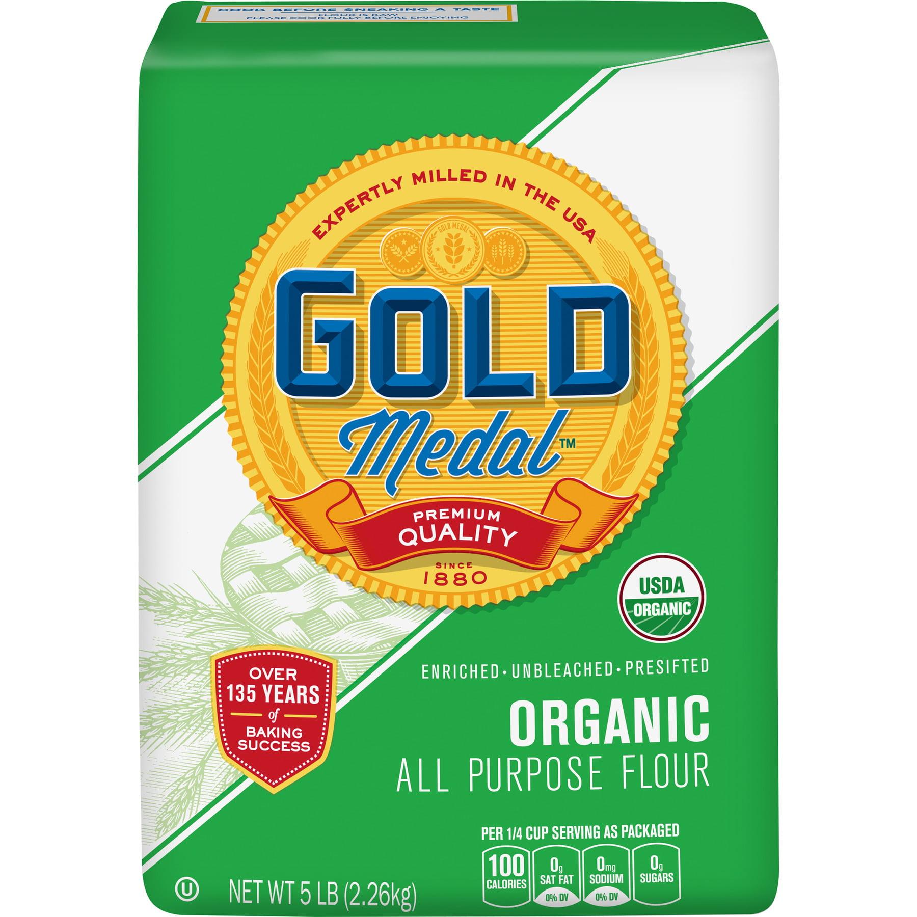Gold Medal Organic All-Purpose Flour, 5 lb Bag