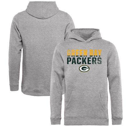 online retailer bae70 c5d3b Green Bay Packers NFL Pro Line by Fanatics Branded Youth Iconic Collection  Fade Out Pullover Hoodie - Ash
