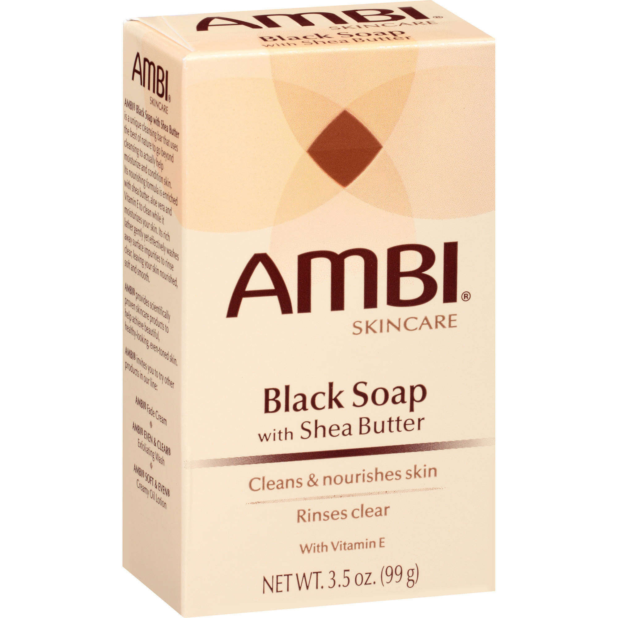 Ambi Skincare Black Soap with Shea Butter, 3.5 oz
