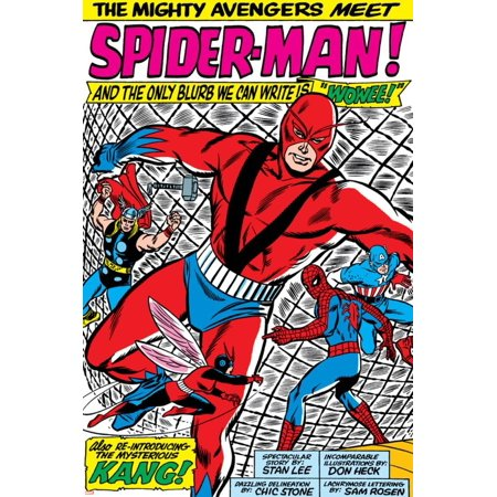 Avengers Classic No.11 Group: Spider-Man, Giant Man and Wasp Poster Wall Art By Don Heck
