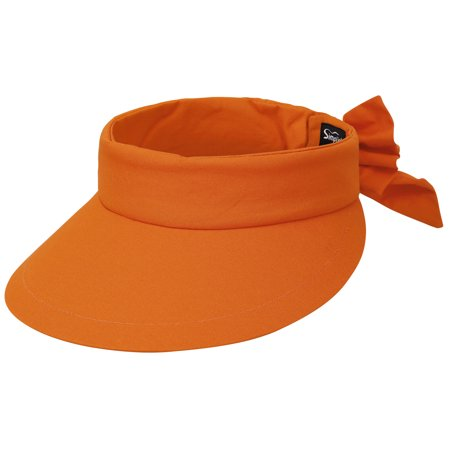 2beeef29 Simplicity - Simplicity Women's SPF 50+ UV Protection Wide Brim Beach Sun  Visor Hat,Orange - Walmart.com