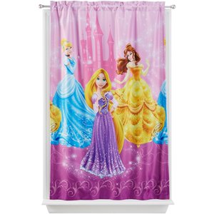 "Disney Princess ""Grand Beauties"" Room Darkening Girls Bedroom Curtain Panel"