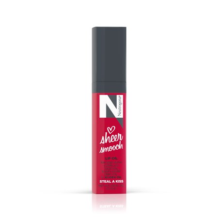 Neutrogena Sheer Smooch Tinted Lip Oil, Shade Steal A Kiss, 0.18 fl. oz