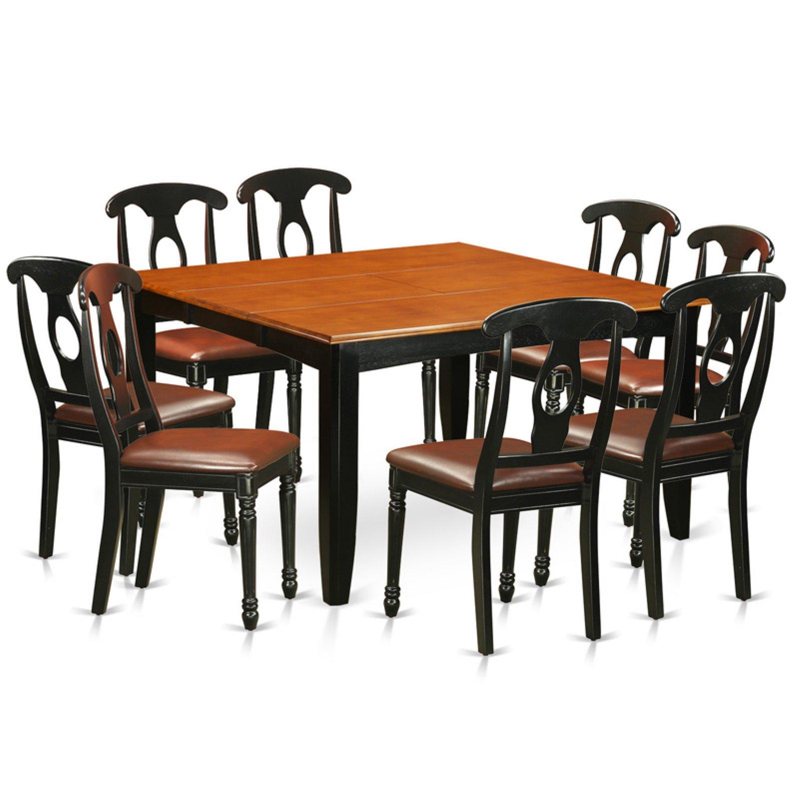 East West Furniture Parfait 9 Piece Keyhole Dining Table Set