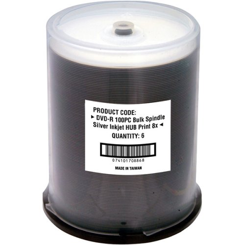 Fuji Dvd-rptw/100 Write-once Dvd-r Spindle With White Thermal Printable Surface (fuji Dvdrptw/100)