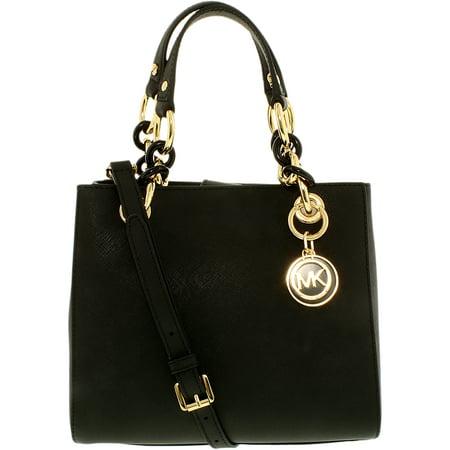 b0caa0036daf UPC 889154023758. Michael Kors Women's Cynthia Small Leather Satchel  Top-Handle Bag Black Schwarz (Black 001)