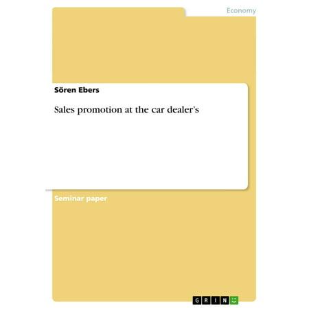 Sales promotion at the car dealer's - eBook