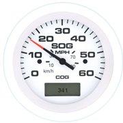 SeaStar Solutions Arctic GPS Speedometer, 60 MPH