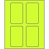 """3"""" x 5"""" Chartreuse Fluorescent Labels for Laser Printers, Inkjet Printers or Copier Machines. (GL3050 CH)"""