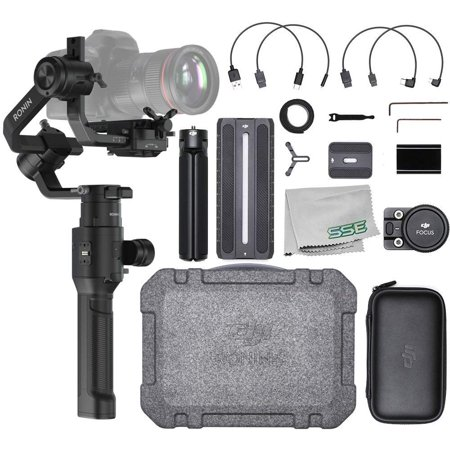 DJI Ronin-S Handheld 3-Axis Gimbal Stabilizer with All-in-one Control for DSLR and Mirrorless Cameras Starters Bundle - (Best Affordable Dslr Gimbal)
