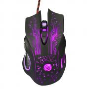Jeobest 1PC Wired Gaming Mouse - 3200DPI LED 6 Keys USB Wired Gaming Mouse Colorful LED Lights Pro Gamer Mouse Computer Per PC MZ