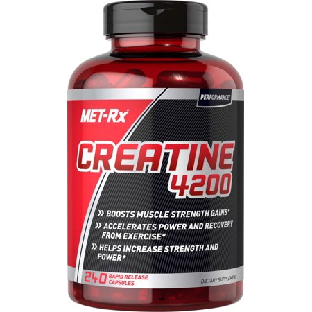 MET-Rx Creatine 4200 Dietary Supplement, 240 (The Best Muscle Building Supplement)