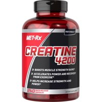 MET-Rx--Creatine 4200--Creatine Supplement to Boost Muscle Strength Gains from Working Out and Weightlifting*--1 Bottle of 240 Rapid Release Capsules