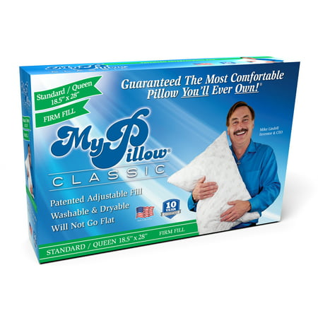 MyPillow Classic Queen Size Pillow, Firm Support