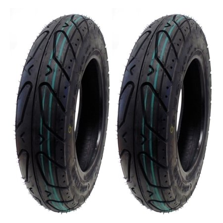 SET OF TWO: Scooter Tubeless Tire 3.50-10 Front or Rear fits on 10 Inch - 5 Scooter Tire