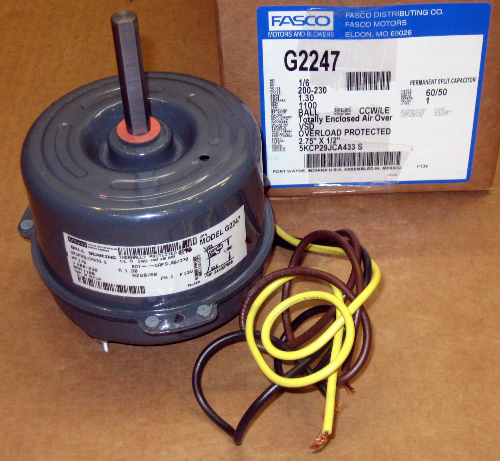 230 Volt Home Wiring Electrical Diagrams G2247 Fasco 5 Diameter Cap Can Motor 200 Volts 1075 Rpm 1 6 Electric