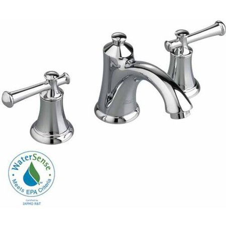 American Standard 7415.801.002 Portsmouth Widespread Lavatory Faucet with Metal Lever Handles and Metal Speed Connect Pop-Up Drain, Available in Various Colors American Standard Hampton Lavatory Faucet