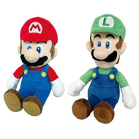 Mario and Luigi Combo Set 2 Plush Dolls Set 9 inches each Nintendo Mario and Luigi Blanket 9 Inch Plush