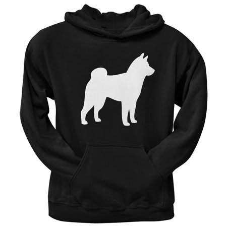 Shiba Inu Silhouette Black Adult Pullover Hoodie ()