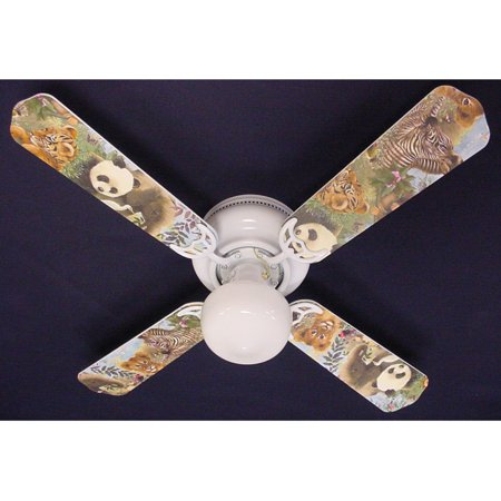 Ceiling Fan Designers Baby Safari Elephant Lion Zebra Indoor
